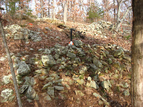 Photo: Cairn #N - In the middle ground is #6. #7 is left and higher