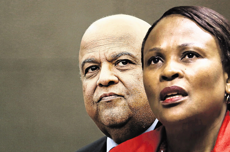 President Cyril Ramaphosa's counsel was in court on Tuesday to support a bid by Pravin Gordhan to suspend public protector Busisiwe Mkhwebane's remedial actions against him.