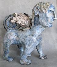 Photo: 'Paradox' raku sphinx