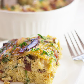 Bacon, Mushroom and Spinach Breakfast Casserole
