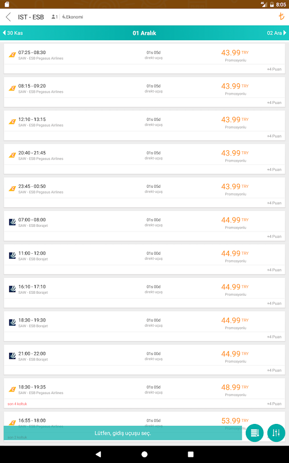 Cheapest Flights with Turna- screenshot