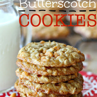 Oatmeal Butterscotch Cookies with Rolled Oats.