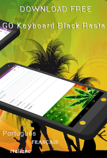 GO Keyboard Black Rasta
