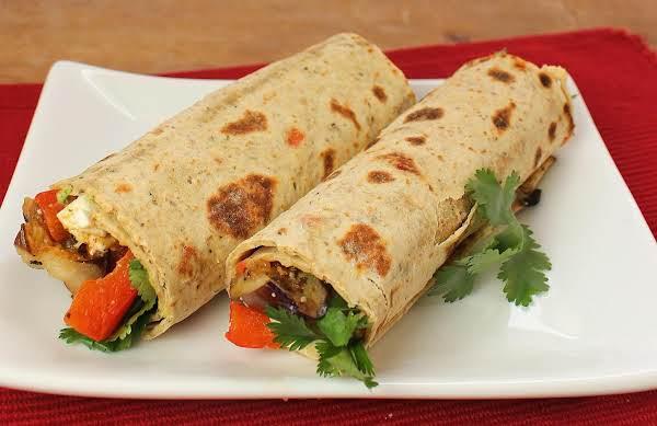 Grilled Veggie And Hummus Wraps Recipe