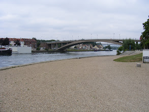 Photo: The view of the Oise river, which has flowed for 188 miles from Chimay (the Belgian sister city of Conflans), to end here where it joins the Seine. Two bridges can be seen: the Rue du Marécourt bridge in the foreground, and the Pont Eiffel in back.