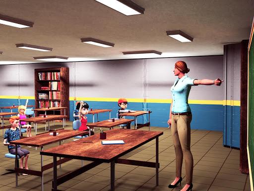 Virtual High School Simulator - School Games 3D apktram screenshots 6