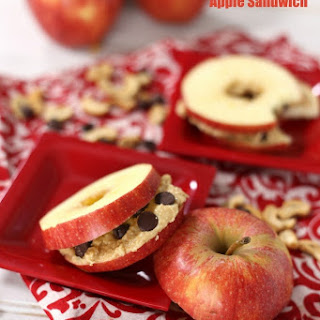 Chocolate Chip Cookie Apple Sandwich