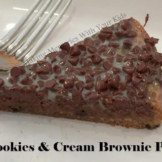 Cookies and Cream Brownie Pie