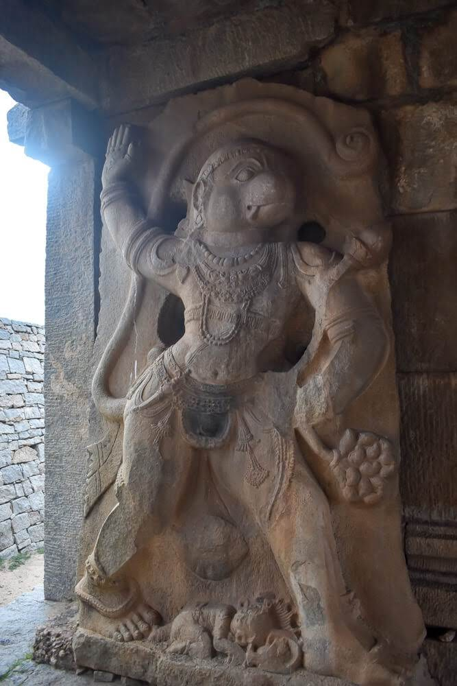 hanuman+statue+hampi hampi india images