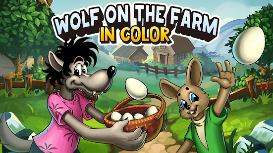 Wolf on the Farm in color 6