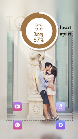 android Forever Love Theme Screenshot 2