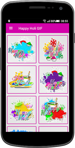 Happy Holi GIF for PC