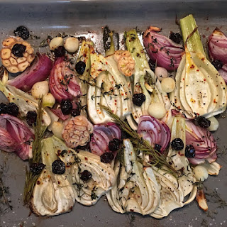 Roasted Fennel with Sour Cherries.