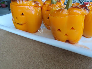 Jack O Lantern Stuffed Peppers Recipe