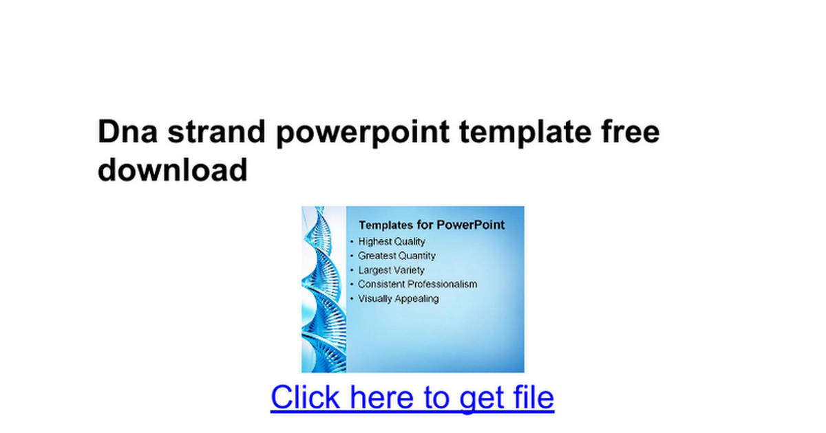 Dna strand powerpoint template free download google docs maxwellsz