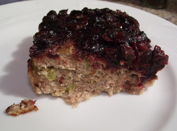 Cranberry Balsamic Turkey Meatloaf Recipe