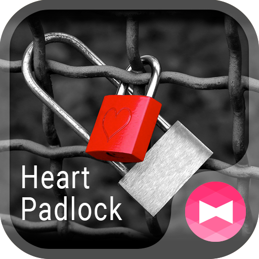 Love Theme Heart Padlock Icon