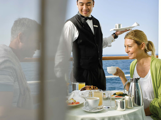 Enjoy breakfast served on the private veranda of your Silversea sailing.