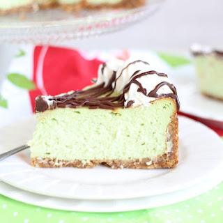 Amaretto Pistachio Cheesecake.