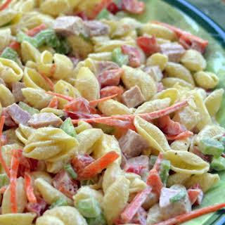 Easy Sweet Hawaiian Pasta Salad.