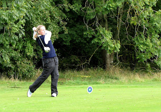 Photo: Clare- Marie tees off