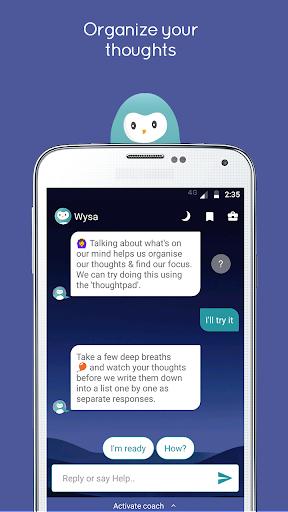 Wysa - your happiness buddy  screenshots 4
