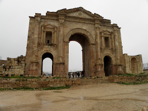 Photo: Hadrian's Gate at Jerash