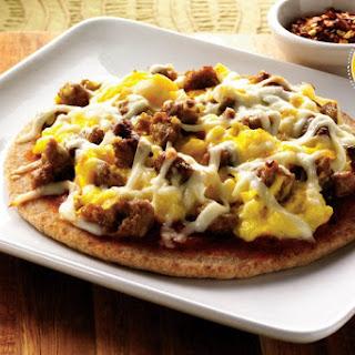 Mini Breakfast Pita Pizzas.