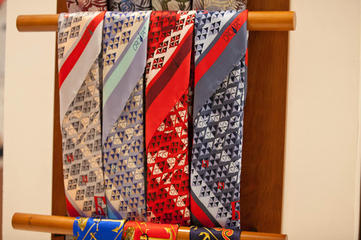 Croata-ties.jpg - Men's ties for sale at Croata, 2 Pred Dvorom (Stari grad), Dubrovnik, Croatia.