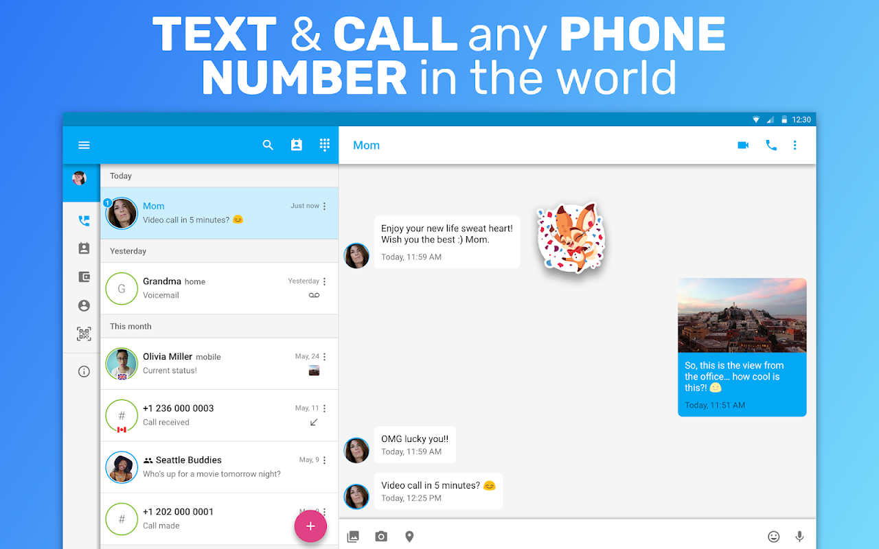 Text Me: Text Free, Call Free, Second Phone Number screenshots