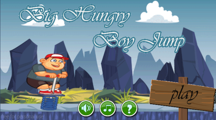 android Big Hungry Boy Jump Screenshot 0