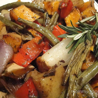 Fall Butternut Squash Roasted Vegetables.