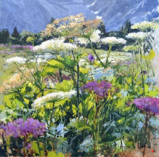 Fleurs de Bionnassay. oil on canvas, 30x30cm