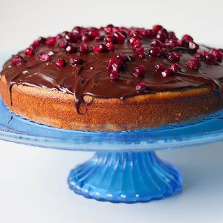 Buttermilk Cake with Pomegranate Chocolate Ganache