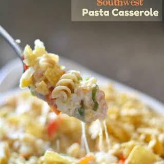 Cheesy Chicken Southwest Pasta Casserole.