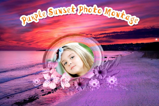 Purple Sunset Photo Montage