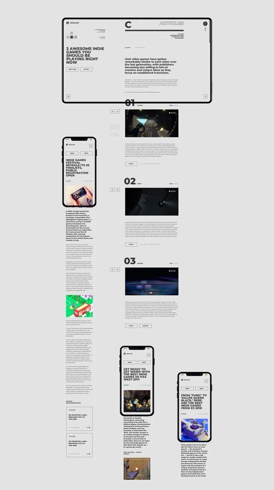 Zerøline—web on Behance