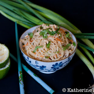 Noodle Salad with Poached Chicken and Peanut-Lime Dressing