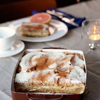 Apple & Cinnamon Whole Grain Breakfast Strata.
