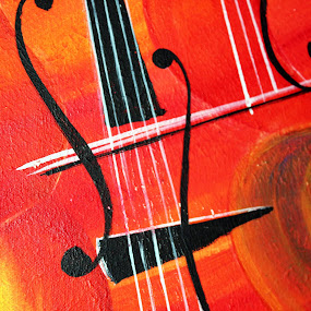 Musical Background by Pathum Herath - Digital Art Abstract ( music, red, creative, musical, violin, colorful, artistic, black )