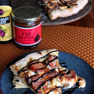 Fig, Goat cheese, and Kielbasa Sausage Pizza