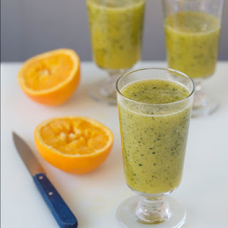 Chilled Cucumber and Orange Juice with Oregano.