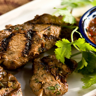 Grilled Pork Skewers with Chile Sauce Recipe
