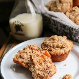 Apricot Pecan Streusel Muffins.