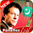 PTI Urdu Flex maker and Face Flag Stickers