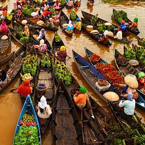 Lok Baintan Floating Market-2 by Niin Peweel - City,  Street & Park  Markets & Shops ( cyti, markets )