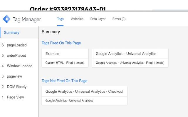 VTEX Google Tag Manager Debugger