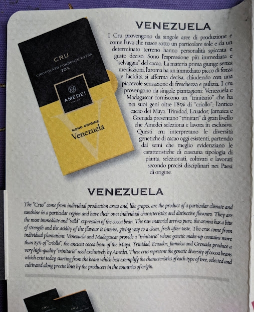 70% Venezuela Amedei Bar
