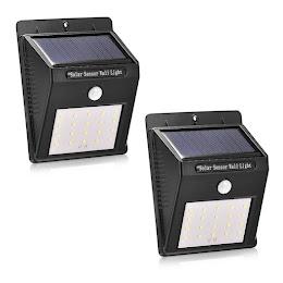 Set 2 x Lampa solara de perete cu senzor miscare 20 LED