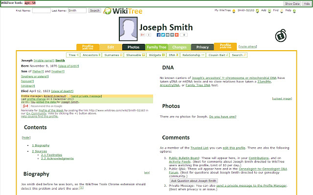 WikiTree Tools